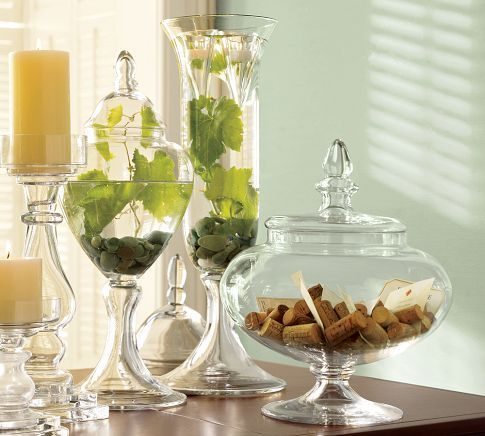 Voluminous Canisters Glass Apothecary Jars Glass Canisters