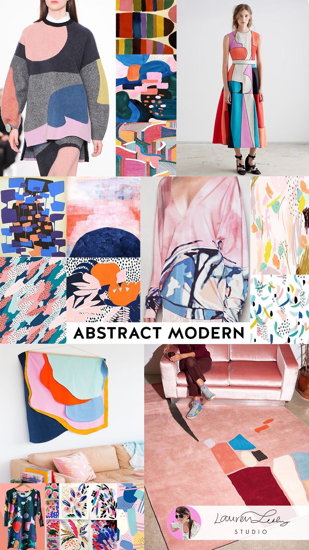 Abstract Modern Trend Report Ss19 Abstract Art In Fashion Ss20 Abstract Artwork In Home Decor Fw19 Mode Fashion Art Prints Print Trends Stationery Trends
