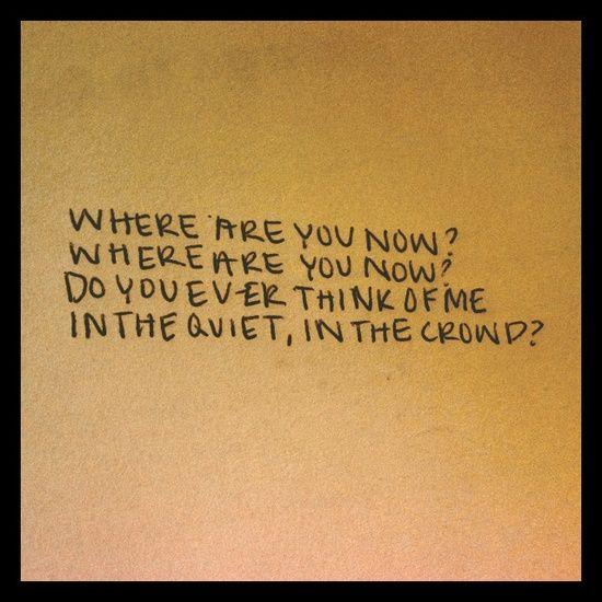 Where Are You Now My Love Lyrics