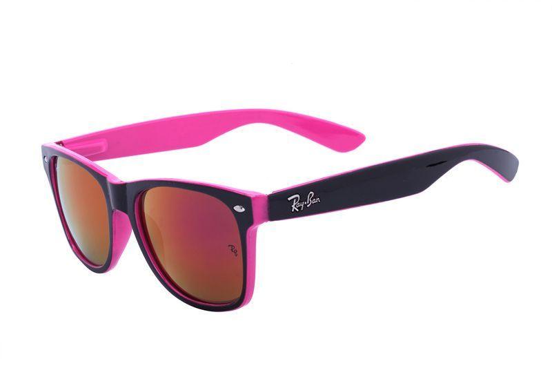1767dc39111 Ray Ban Wayfarer Color Mix RB2140 Orange Pink Sunglasses