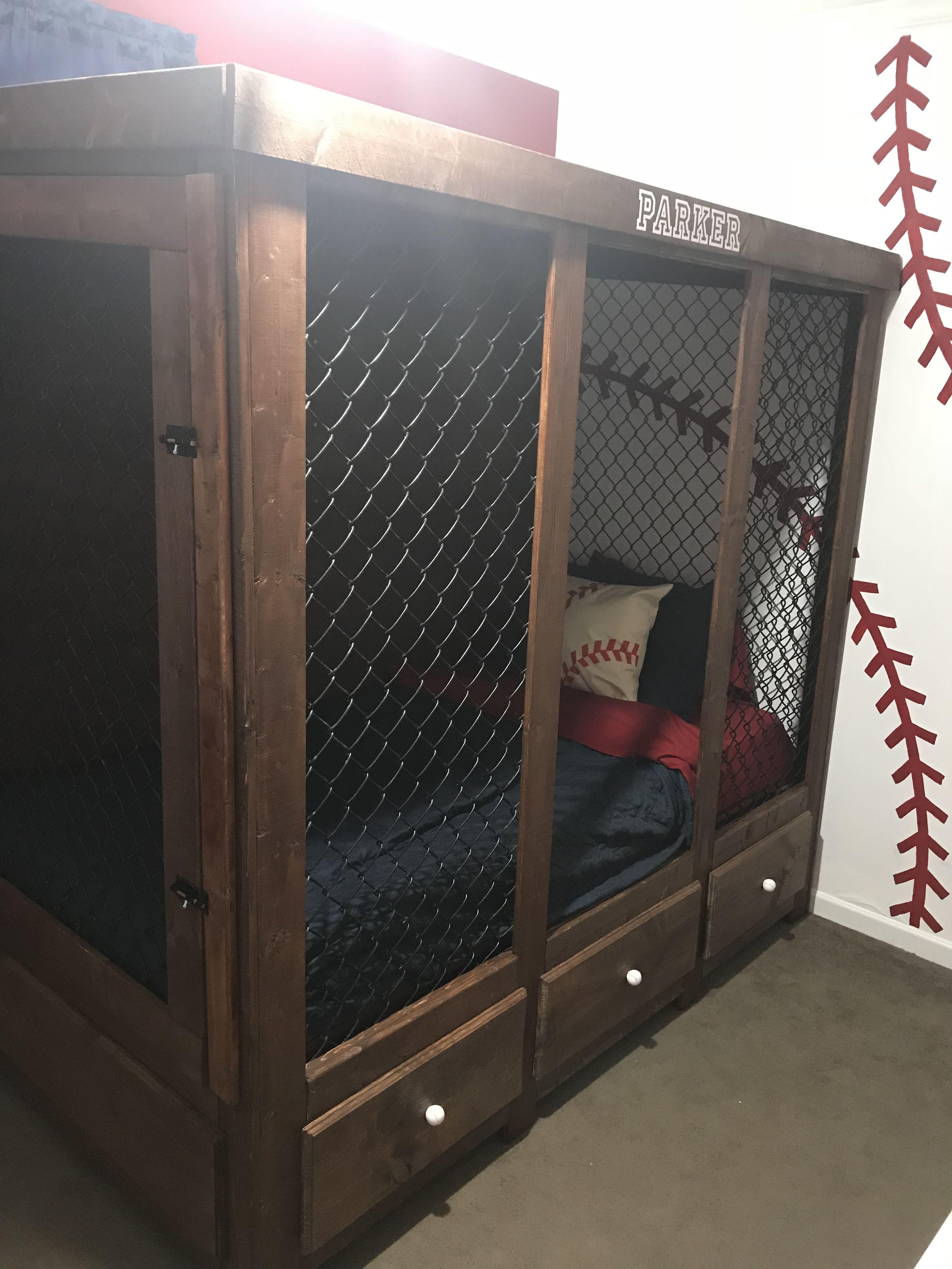 Baseball Dugout Bed Baseball Decor Baseball Bedroom Baseball