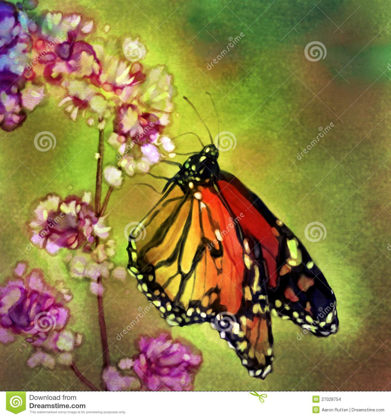 Monarch Butterfly Watercolor Painting Download From Over 29