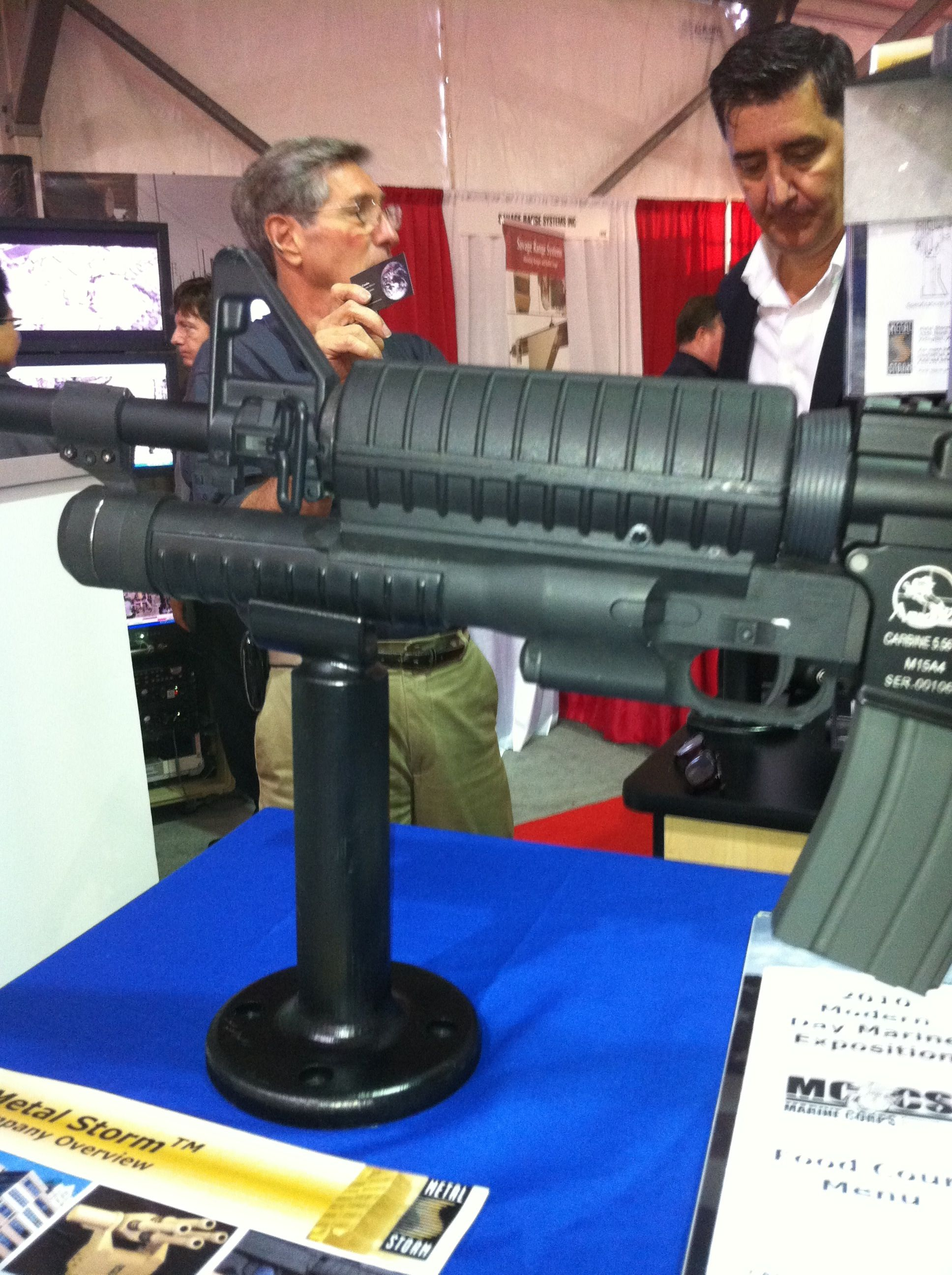 Metal Storm MAUL shotgun 18mm/12ga. Under barrel configuration | Weaponry | Pinterest | Shotguns ...