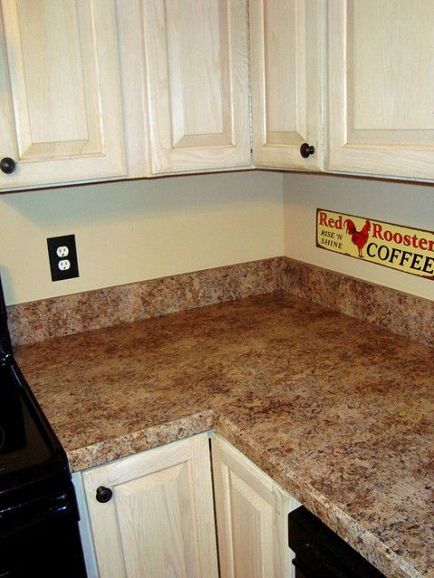 Budget Kitchen Facelift W Formica Butterum Granite Wood Kitchen