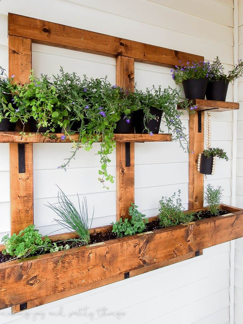 Diy vertical herb garden and planter 2x4 challenge