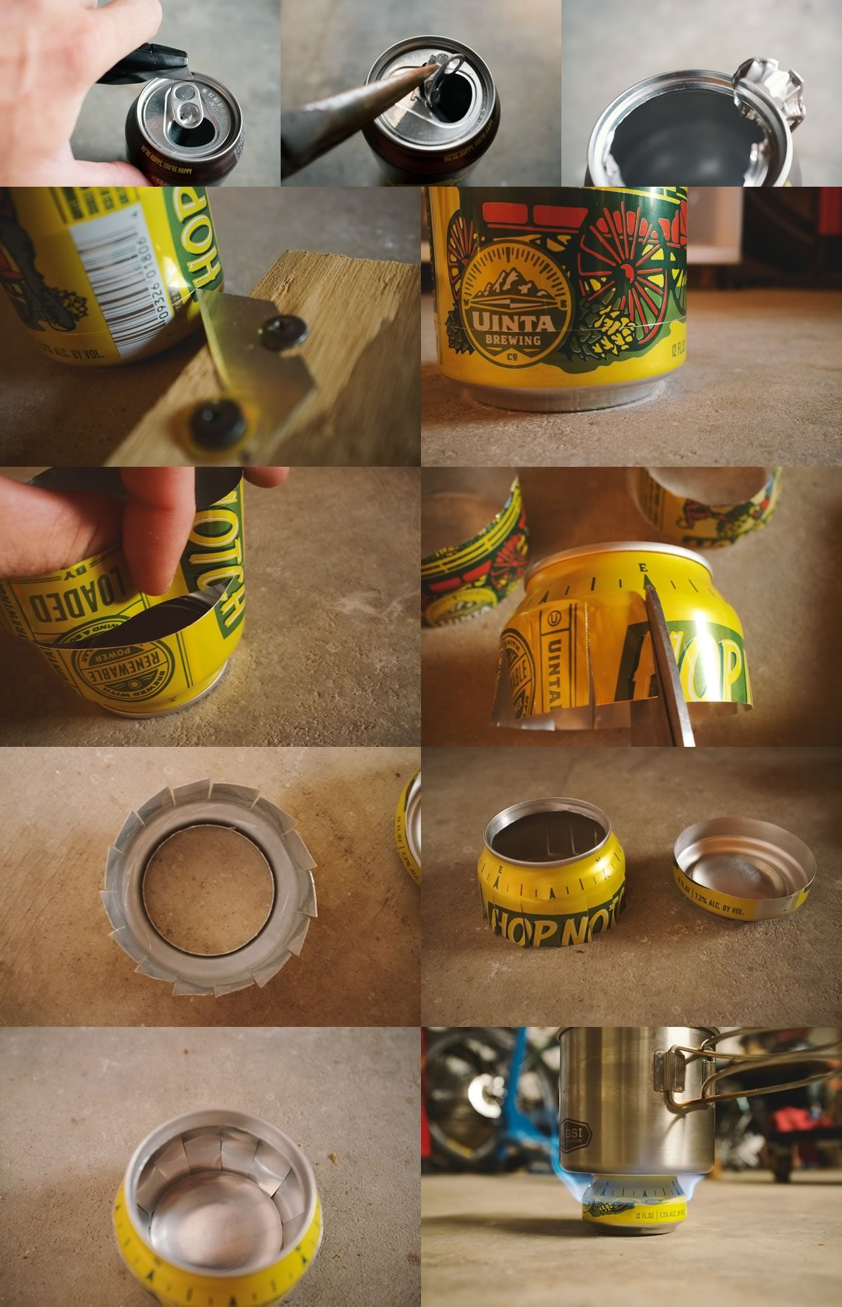 Hop can stoves how to make 5 ultralight bikepacking for Soda can stove template