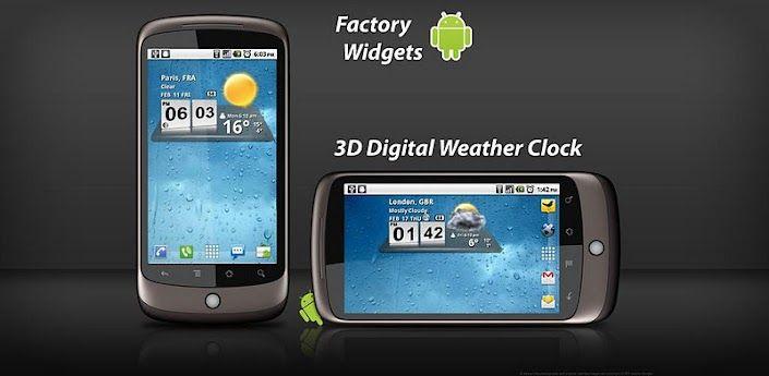 Download 3D Digital Weather clock widget (apk) app for