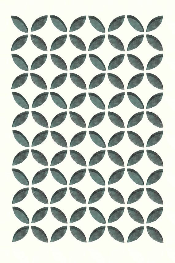 Mid Mod Geometric Print by ShopAmySullivan on Etsy, $45.00