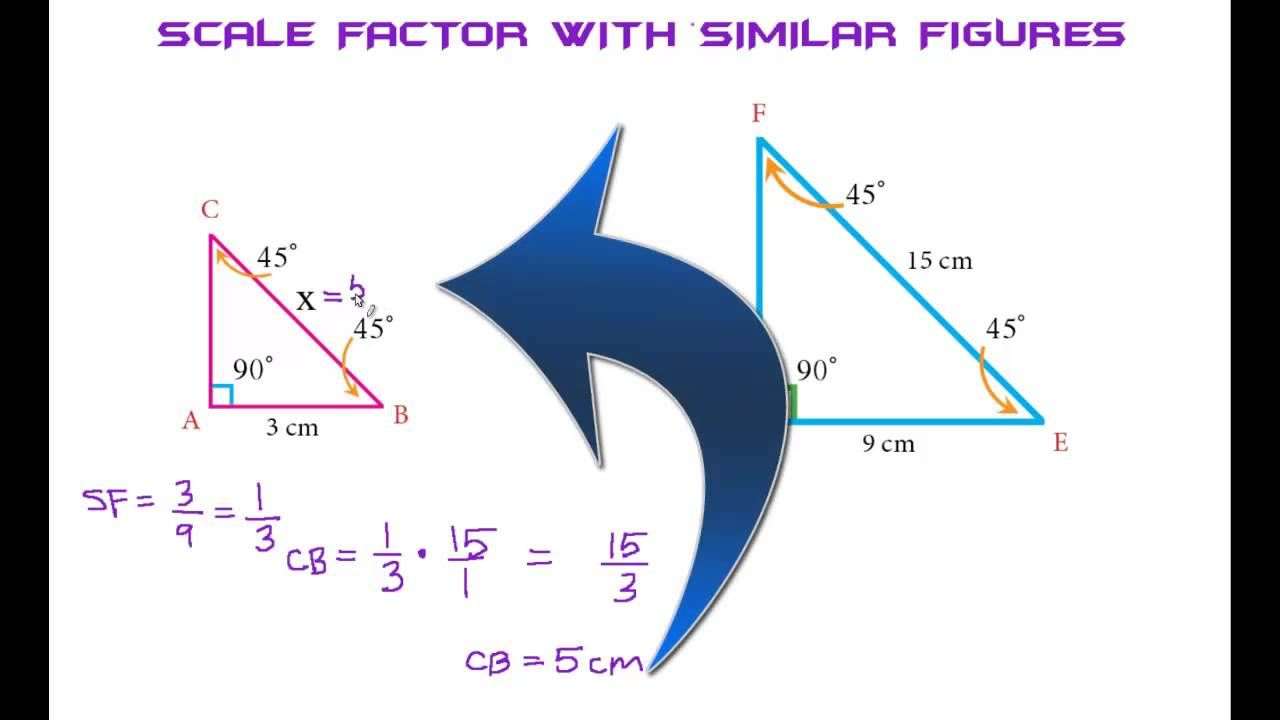 Scale Factor With Similar Figures 2 The Easy Way 7th Grade Math Online Tutoring Math [ 720 x 1280 Pixel ]