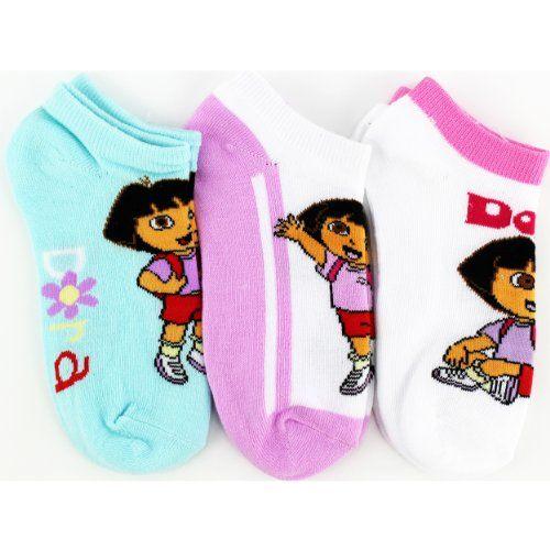 Dora The Explorer Blue Baby Socks