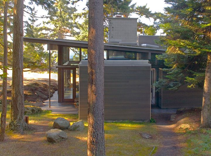cabin by suyama peterson deguchi, decatur island, washington