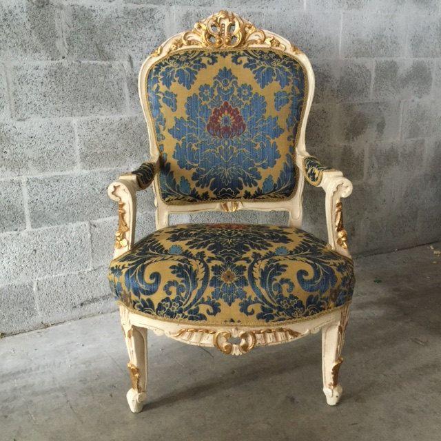 Best Antique Louis Xvi 1 Accent Chair Royal Fauteuil Bergere 400 x 300