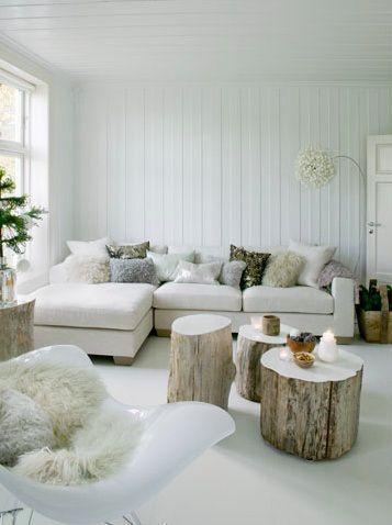 Warm wit interieur   Living   Pinterest