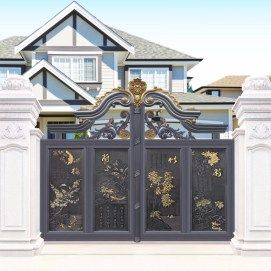 672fc2aa5d954039bfbbb16b49775ba4 House With Front Fence Design on