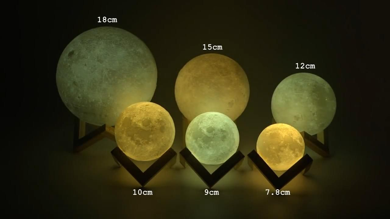Rechargeable 3d Lights Print Moon Lamp Touch Switch Lamp Lights Moon Print Rechargeable Switch Touch In 2020 Lamp Moon Photography 3d Printing