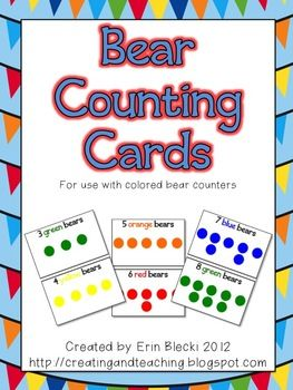 Free Bear Counting Cards! I love that it is a freebie!!!