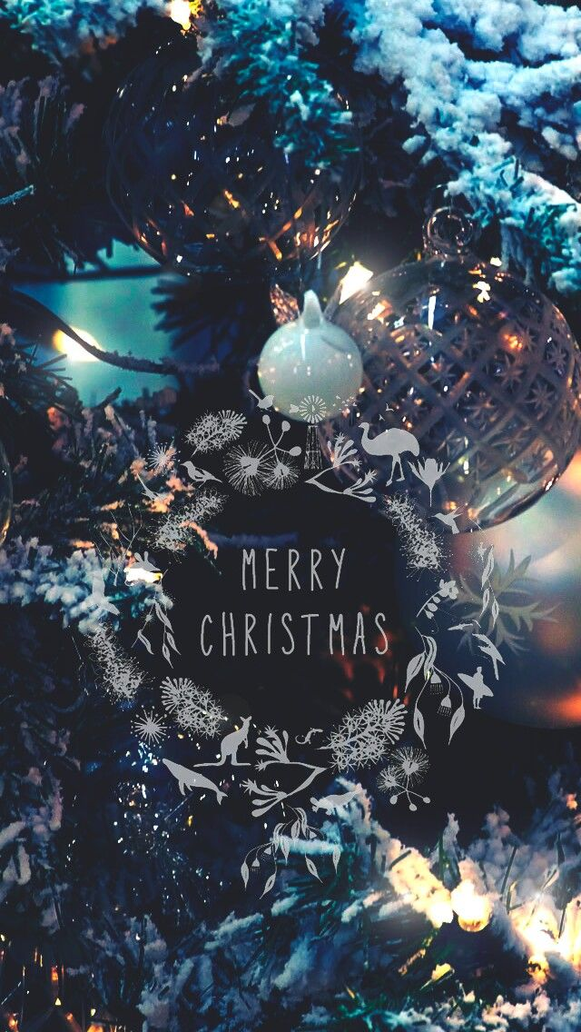 Merry Christmas holiday greeting background wallpaper lock
