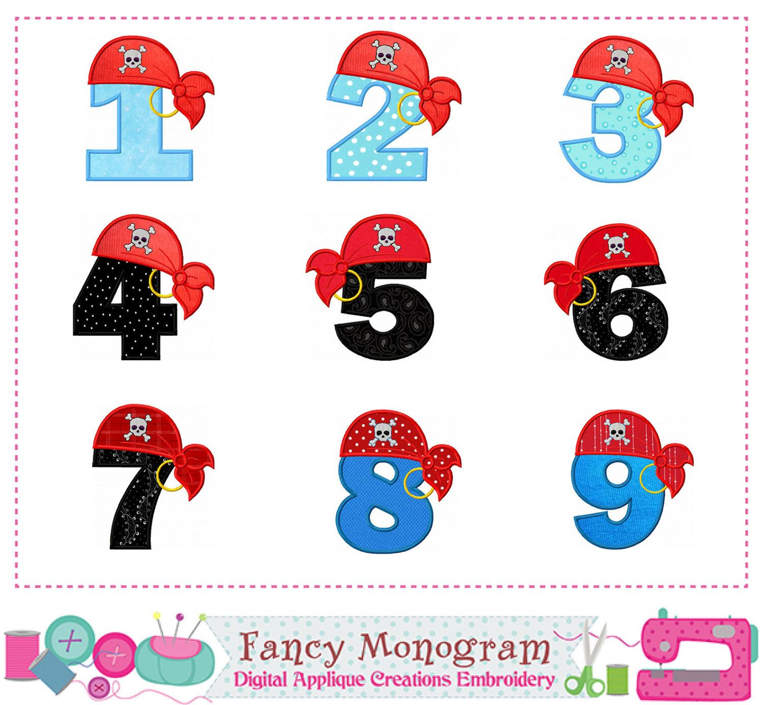 Pirate Number 1~9 applique,Birthday numbers applique,Pirate hat,Corsair applique,Pirate applique,Beach applique,Pirate hat design.-02 by FancyMonogram on Etsy https://www.etsy.com/listing/464672703/pirate-number-19-appliquebirthday