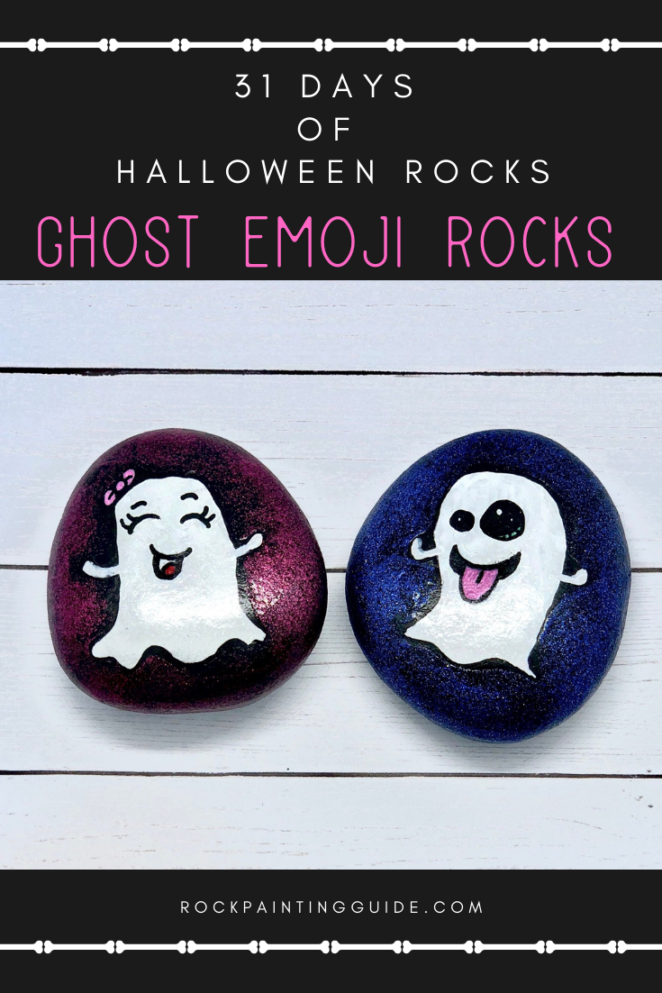 How To Make Ghost Emoji Painted Rocks That Your Kids With