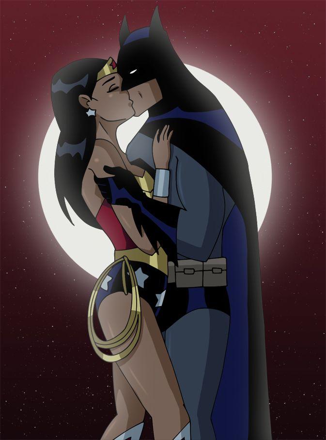Batman Kisses Wonder Woman By Glee Chan Batman Wonder Woman