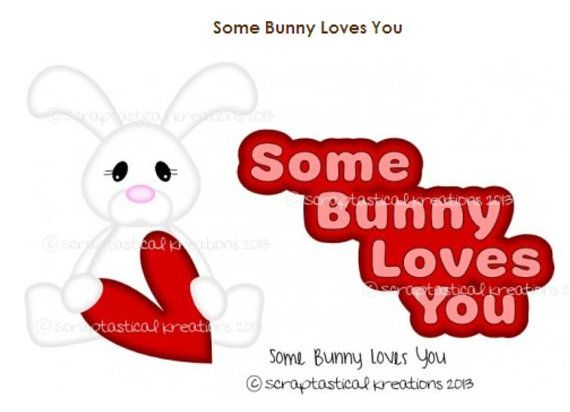 Some Bunny Loves You Title Paper Piecing Card by AlwaysAStory, $4.99