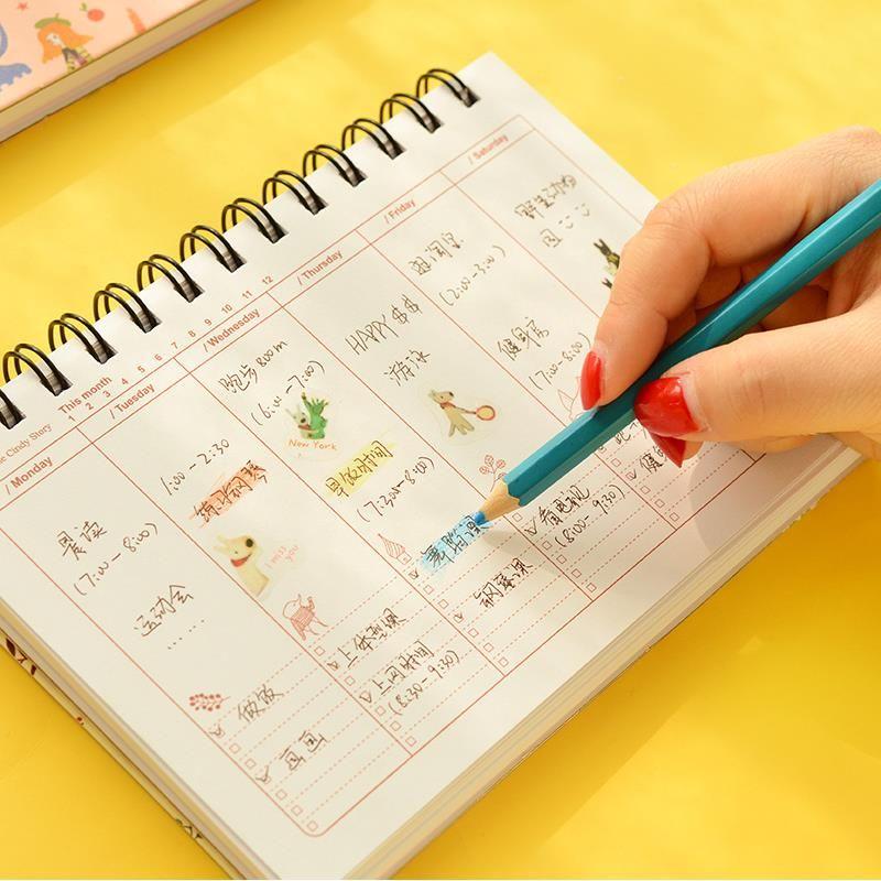 2017 flor notebook Bobina espiral planejador Semanal agenda calendário estilo diário livro papelaria Material escolar material de escritório 01670 em Cadernos de Office & School Suprimentos no AliExpress.com | Alibaba Group