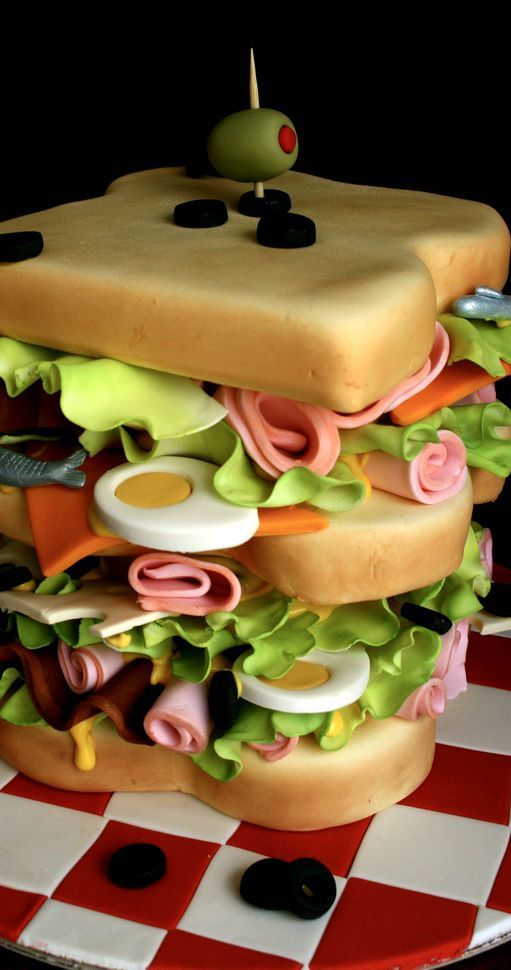 Astounding Sandwich Birthday Cake Yummy Cakes Amazing Cakes Crazy Cakes Funny Birthday Cards Online Sheoxdamsfinfo