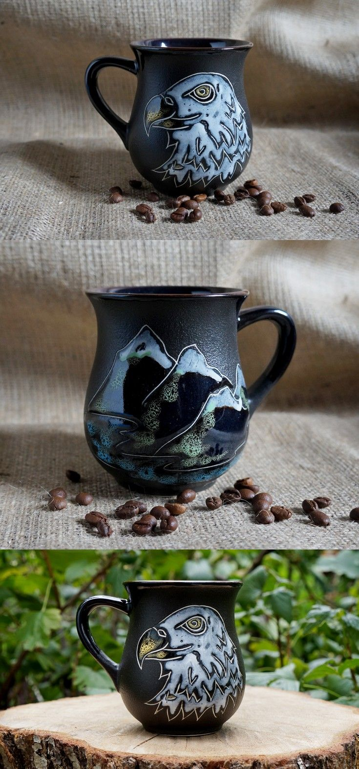 18 50 American Bald Eagle Mug Ceramic Scout Gift Ideas For Boyfriend Tribal