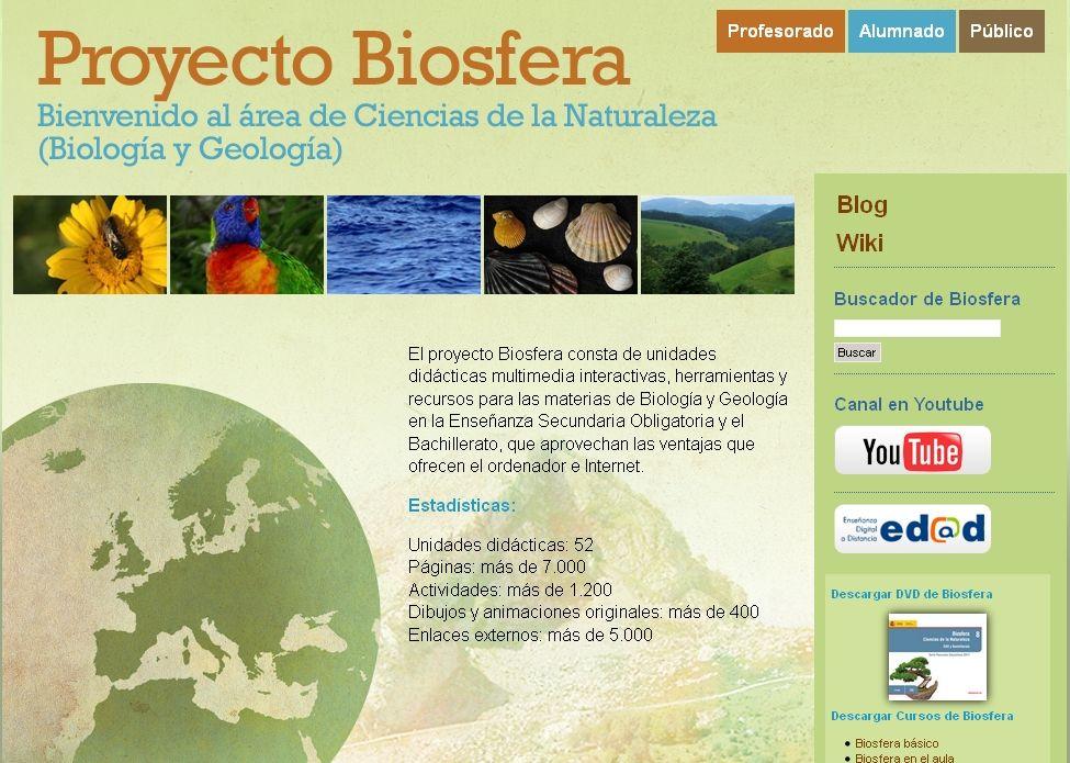 Proyecto Biosfera Para Secundaria Ccnn Proyectos De