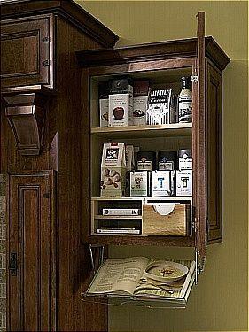 Cook Book Reader Holder Underneath Spice Rack Kitchen Ideals Home Kitchens Cabinet Door Styles