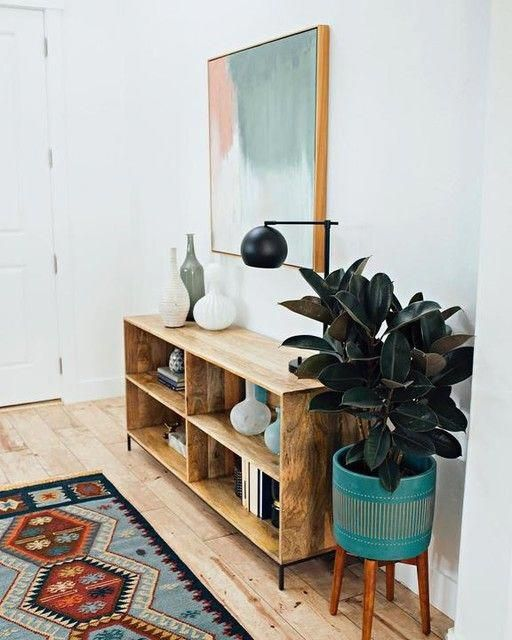 Photo of Mid-Century Turned Leg Standing Planters – Solid