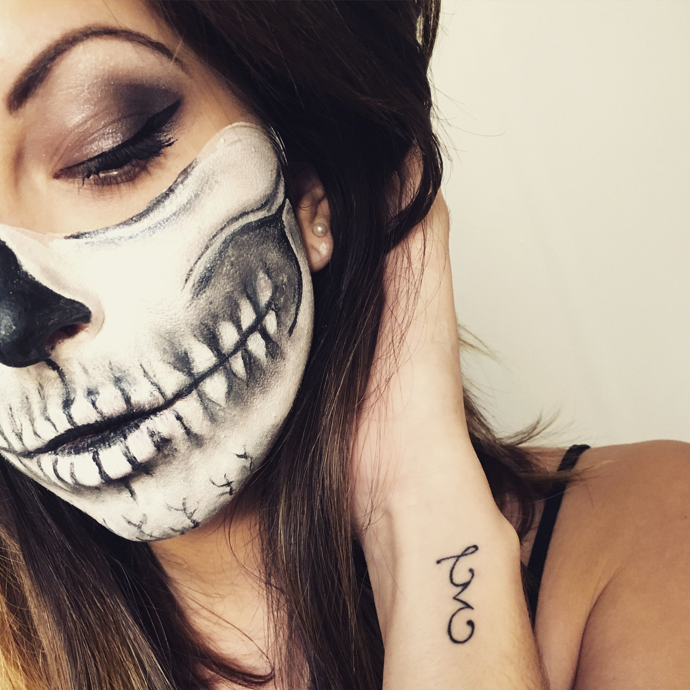 halloween skull makeup 2015 halloween skull makeup skull makeup and halloween skull. Black Bedroom Furniture Sets. Home Design Ideas