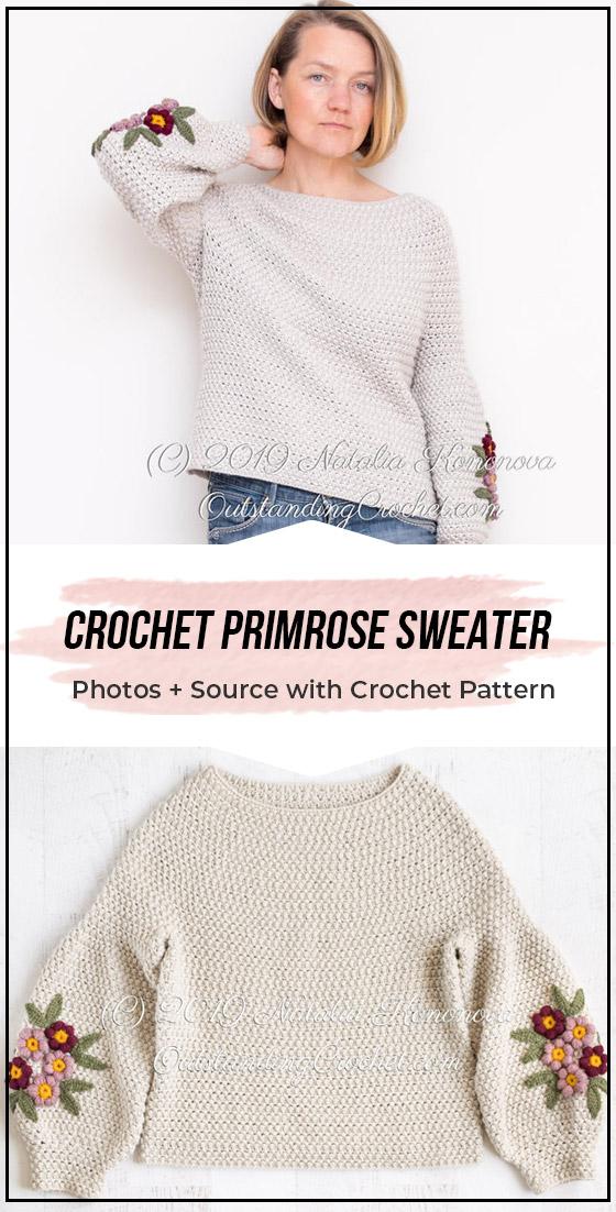 Photo of Heklet Primrose Genser enkelt mønster #crochetedsweaters Heklet Primrose Sweate …