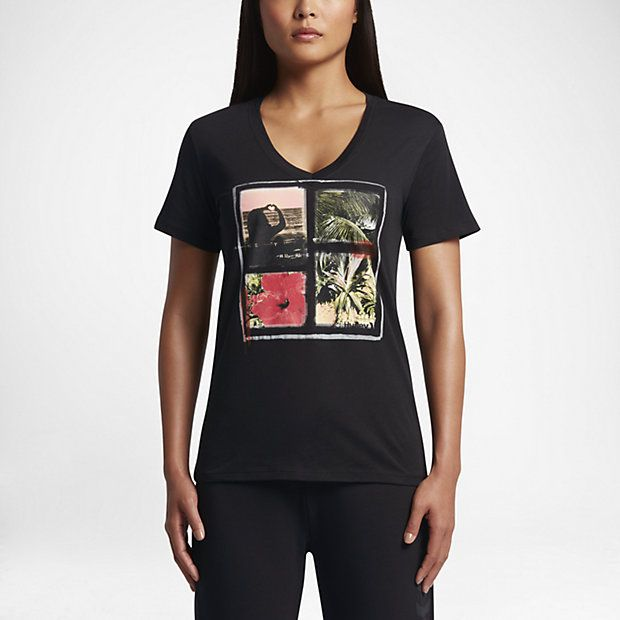 Hurley Carissa Moore Perfect V Women's T-Shirts Black