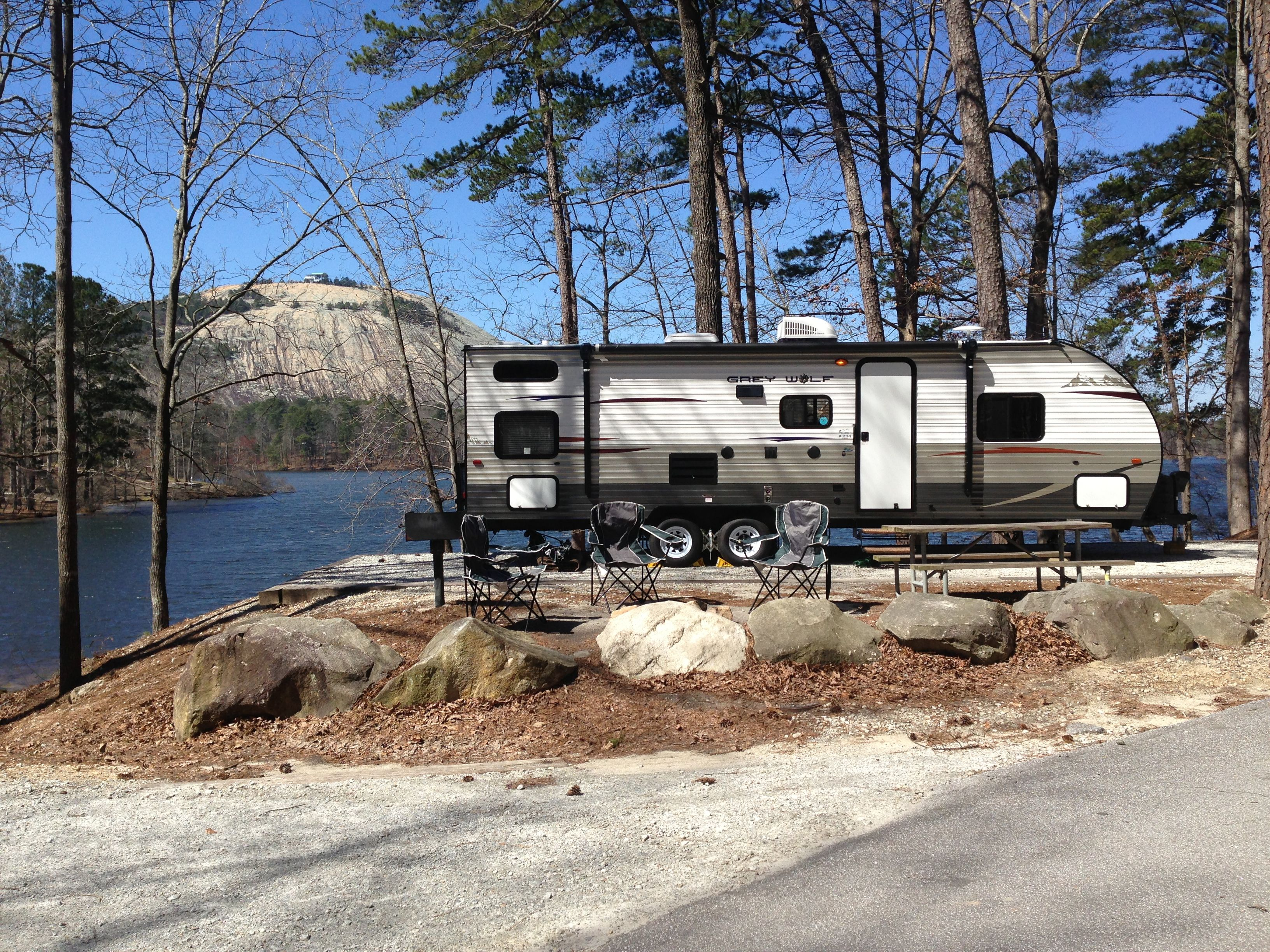 Grey Wolf 28bh On Campsite 335 At Stone Mountain Park Campground