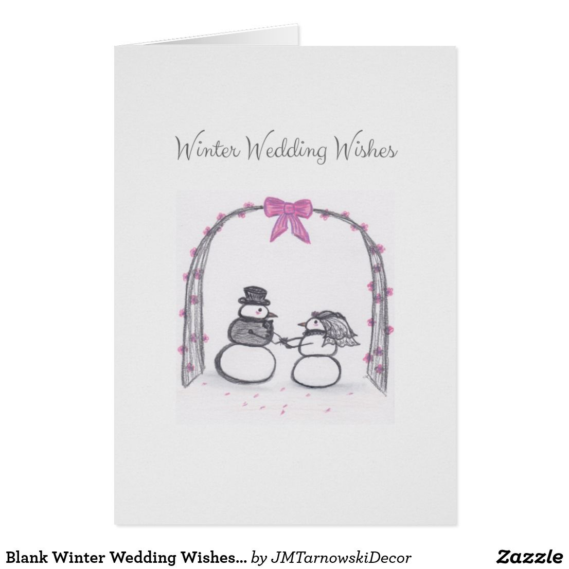 Blank Winter Wedding Wishes Greeting Card Greeting Cards Pinterest