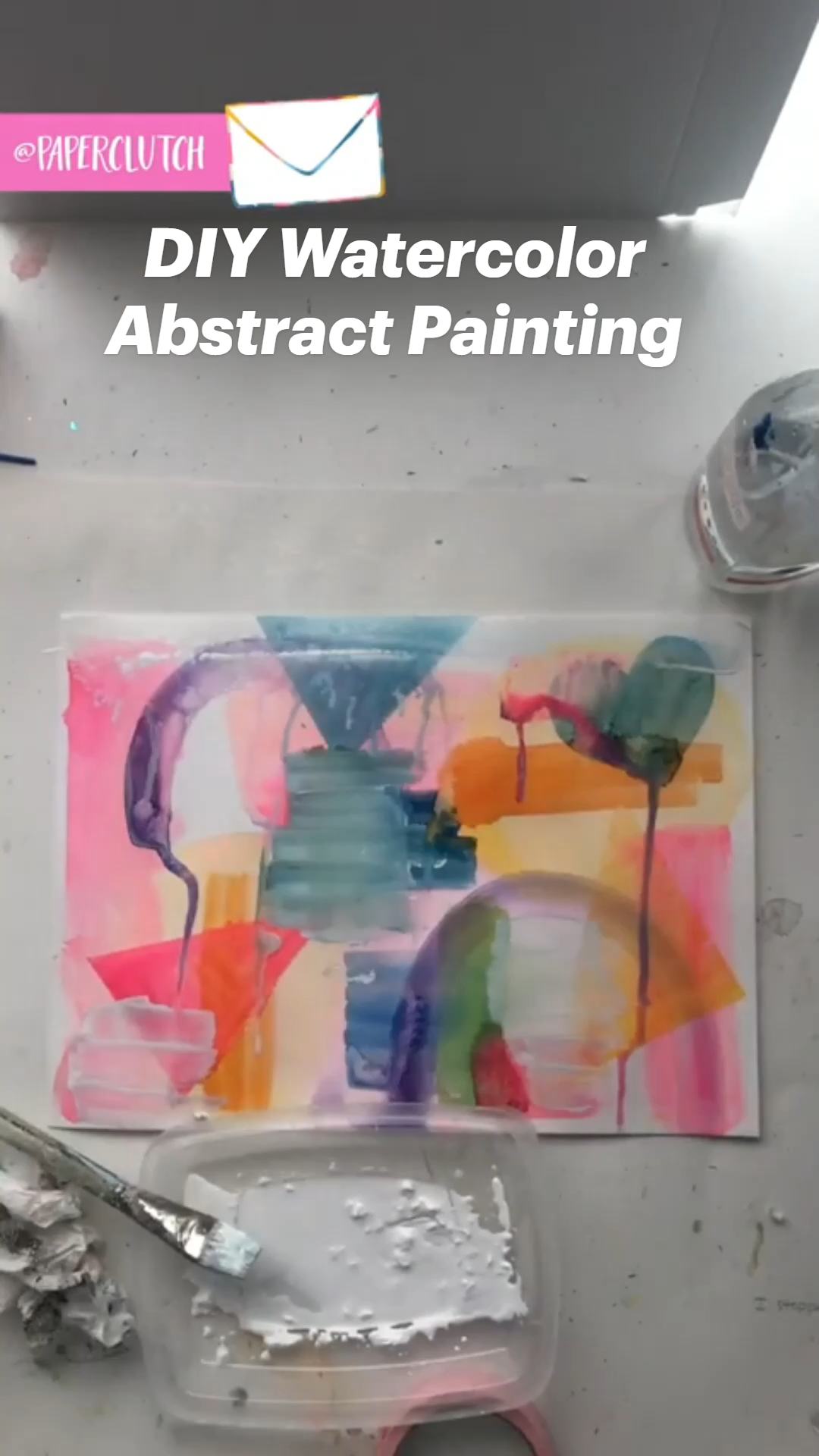 DIY Watercolor Abstract Painting