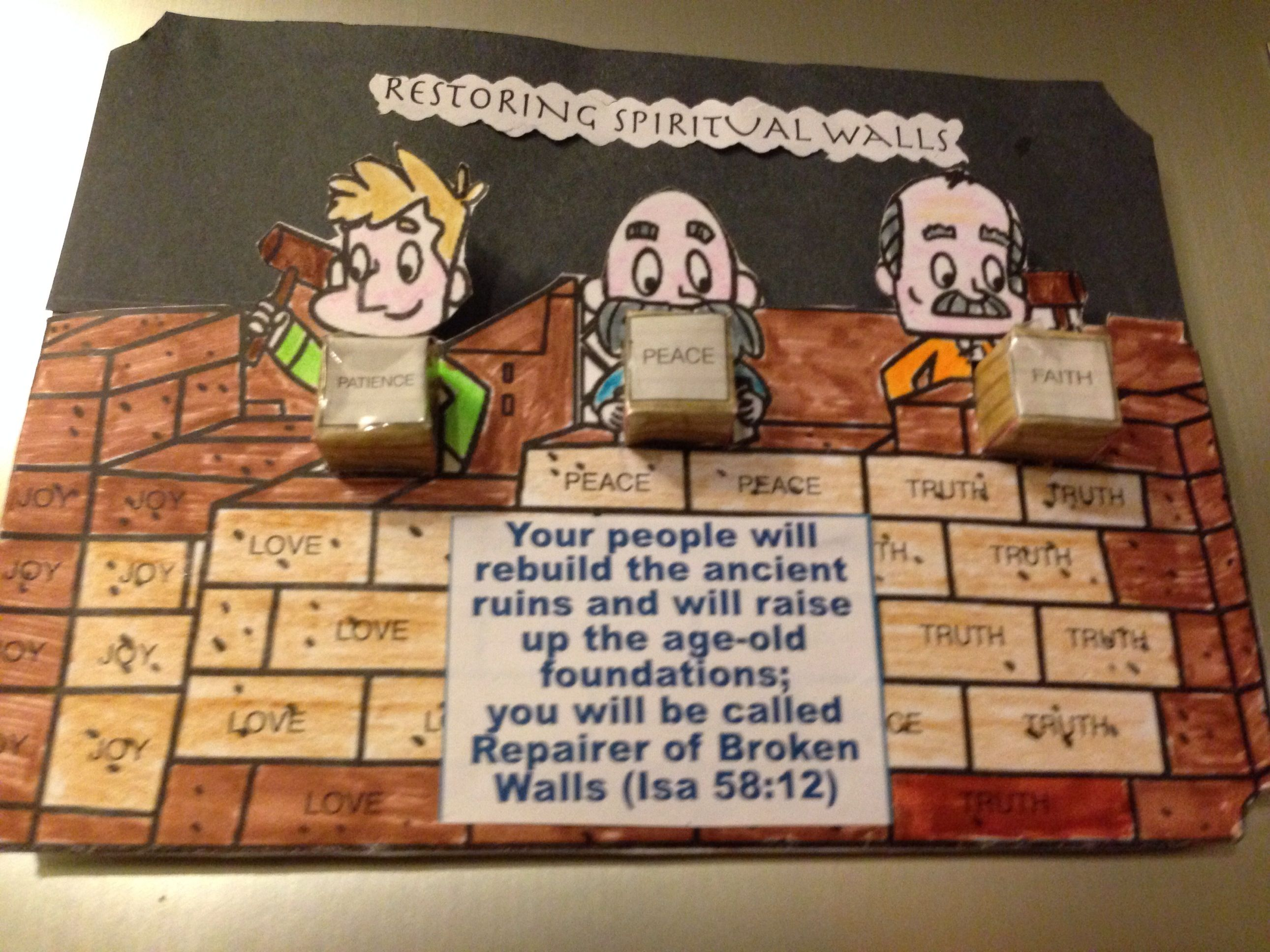 Nehemias restores the Jerusalem walls craft | Ezra and Nehemiah ...