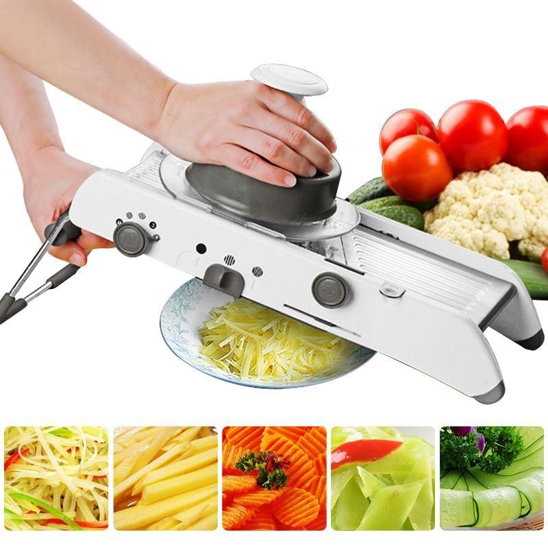 Creative Manuel Mandoline Trancheuse légumes Cutter Avec 5 Acier Inoxydable Lame