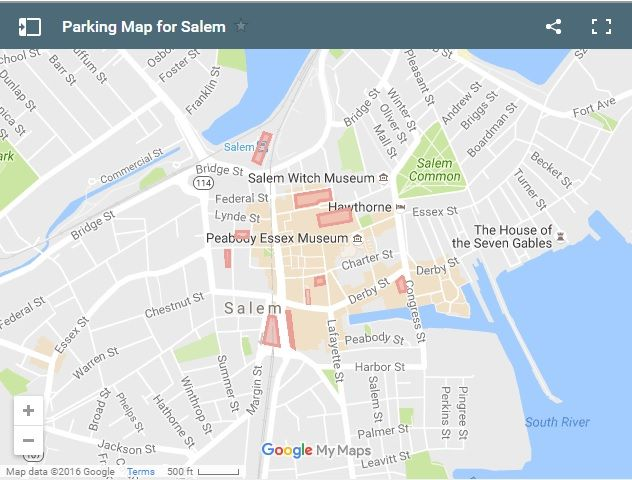 Map Of Salem Ma Driving to Salem, MA? Click the map for information on parking in