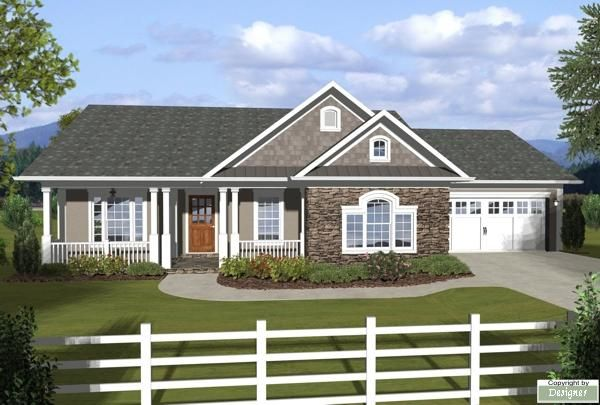 The Westfield 3059 3 Bedrooms And 2 5 Baths The House Designers Ranch House Designs Ranch Style House Plans Ranch Style Homes