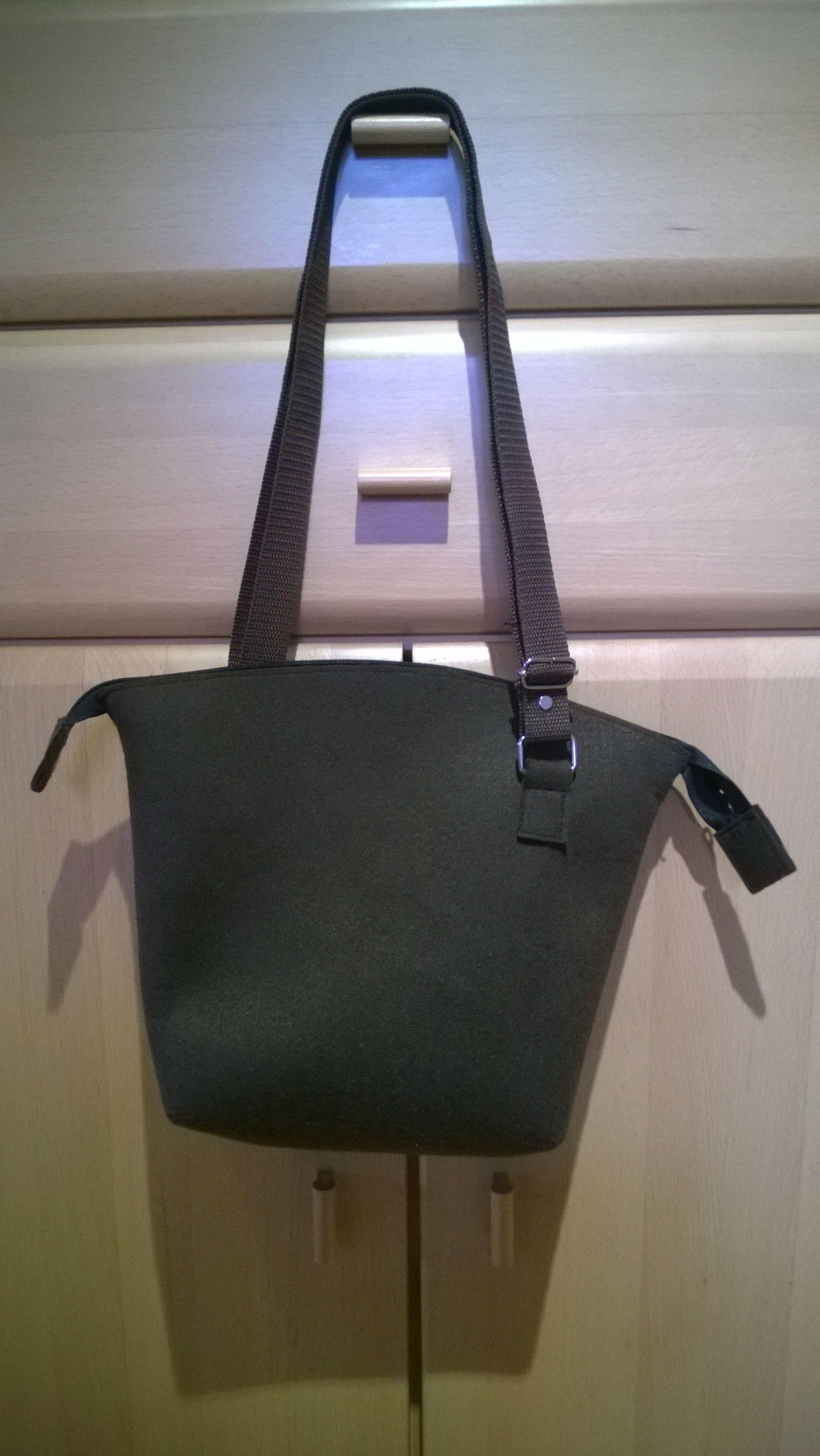 Handtasche Filz, felt bag, selbstgemacht