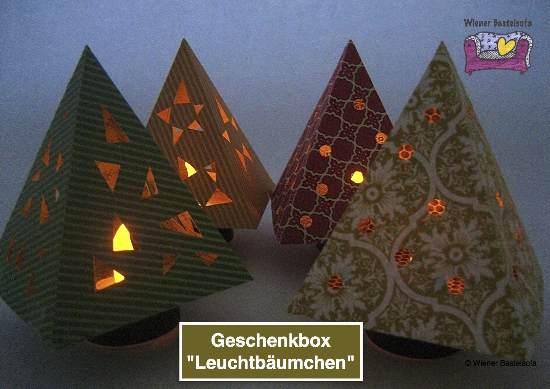 Anleitung Leuchtbäumchen Mit Vorlage Zum Ausdrucken Auf Scrapbooking