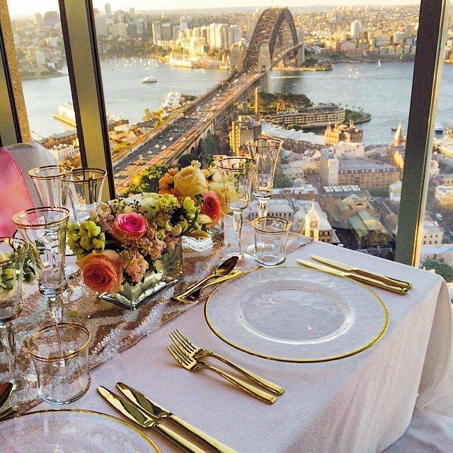Beautiful Day For A Wedding Up In Altitude Restaurant And With Sydney Harbour As CoupleShangri LaCandy