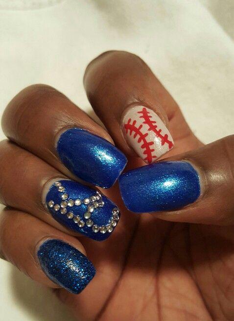 KC Royals nails! | Cute nails | Pinterest | Crazy nail art and Crazy ...