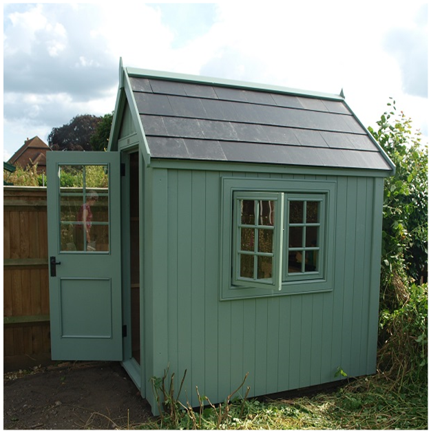 A potting shed with slate effect roof MY Garden and
