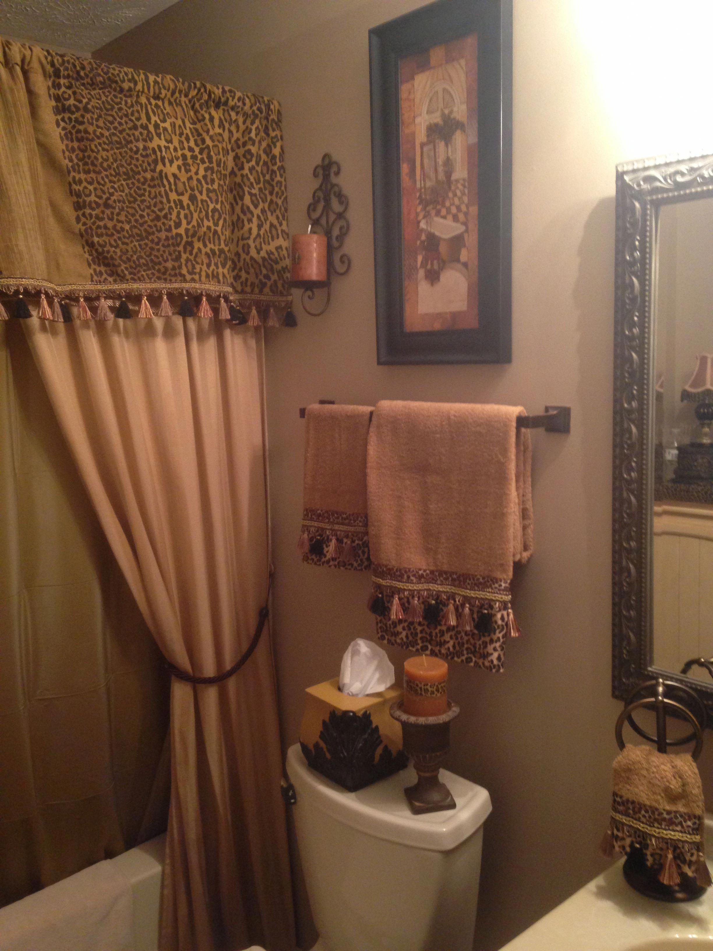 Love A Bit Of Leopard Tuscandecor Restroom Decor Bathroom