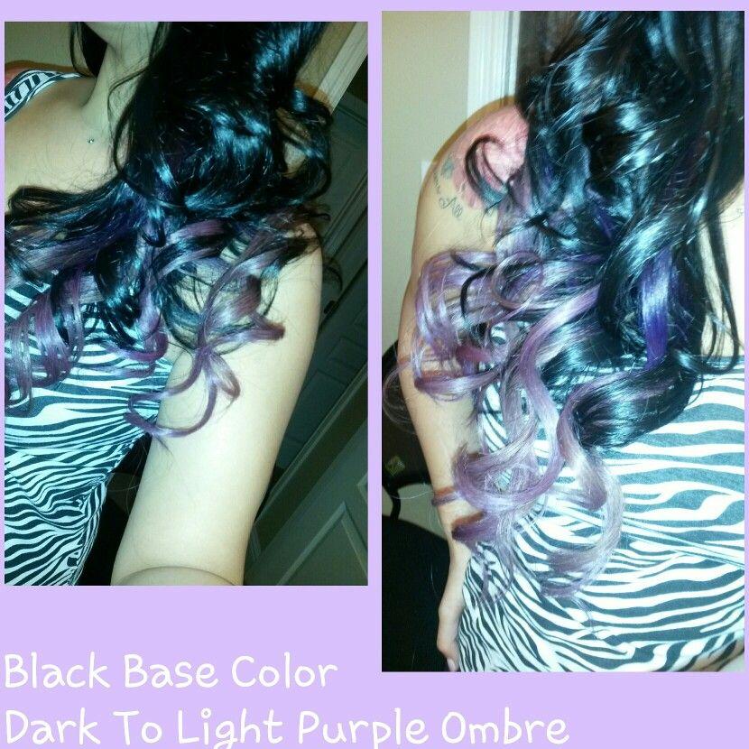 Black to pastel purple ombre! Hair by Lisa Marie Sepulveda!