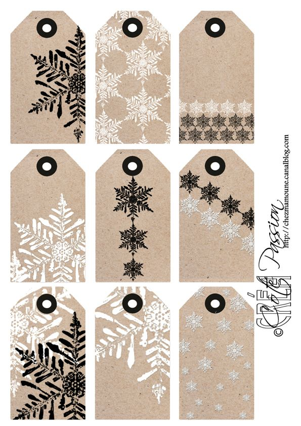 Christmas Gift Tags Pinterest.Etiquettes Flocon Christmas Nail Pinterest Cards