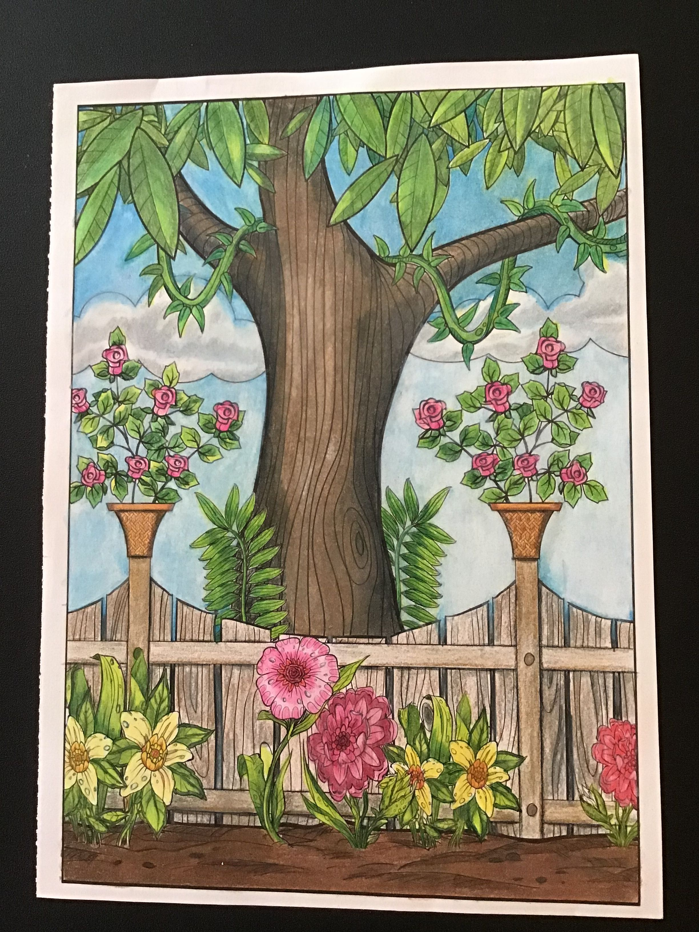From Timeless Creations Magical Garden Coloring Book Coloring